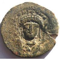 ВИЗАНТИЯ. ТИБЕРИЙ II КОНСТАНТИН (578-582 г.) КОНСТАНТИНОПОЛЬ. АЕ ФОЛЛИС.