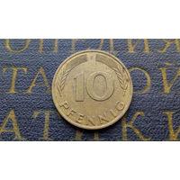 10 пфеннигов 1988 (F) Германия ФРГ #02
