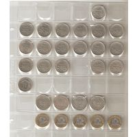 Расспродажа коллекции!!! Погодовка Франции 1,2 и 10  франков