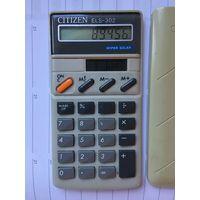Citizen Malaysia калькулятор счетная Машинка винтаж вечная на солнечных батареях работает уже 30 лет без замены батареек Интересная ретро вещь
