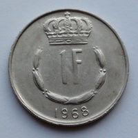 Люксембург 1 франк. 1968