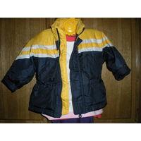 Куртка-ветровка на тонком слое синтепона р.80-90