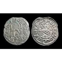 ШИЛЛИНГ 1577 г. ВОЛЬНЫЙ ГОРОД РИГА. РЕДКИЙ ТИП (ГОД ПЕРЕВЁРНУТ) - ПО БЛИЦУ ПОЧТОЙ БЕСПЛАТНО !