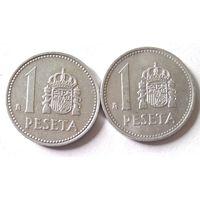 Испания, 1 песета, 1986, 1987 г.