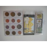 Монеты Египта для туристов, 12 шт. + бонус