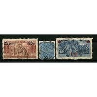 Польша - 1934 - Надпечатки 25gr., 55 gr., 1zt - [Mi. 291-293] - полная серия - 3 марки. Гашеные.