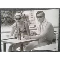 Фото. Молодежь на отдыхе в Сочи. 1967 г. 13х18 см.