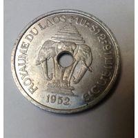 Лаос королевский 20 центов 1952