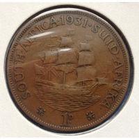 Южная Африка Британский доминион 1 пенни 1931 Георг V тип 3