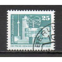 Стандартный выпуск Социалистическое строительство в  ГДР 1980 год серия из 1 марки