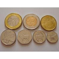 Ботсвана. набор 7 монет 5 тхебе - 5 пула 2013 год UNC