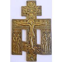 Крест Распятие Христово с предстоящими, 19 век. 21,5х14 см.