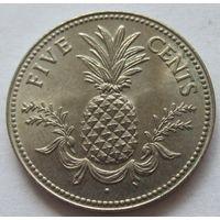 Багамы 5 центов 1975