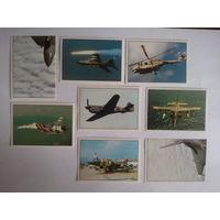 Наклейки Боевые самолеты Panini 1996 г.