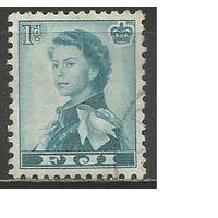 Фиджи. Королева Елизавета II. 1954г. Mi#125.
