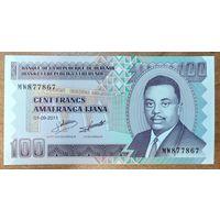 100 франков 2011 года - Бурунди - UNC