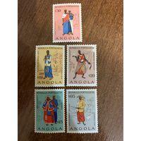 Ангола 1957. Национальные костюмы. Полная серия