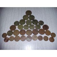 Евроценты  32 шт  ( все разные)