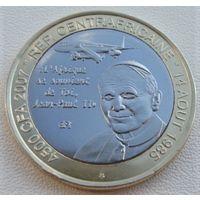 """Центральная Африка.  4500 франков 2007 год  X#13 """"Иоанн Павел II"""""""