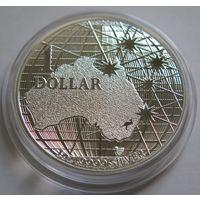 """Австралия 2020 серебро (1 oz) """"Под звездным небом"""""""