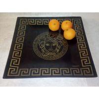 """Блюдо тарелка """"Версачи"""" в греческом стиле 30х30 см стекло"""