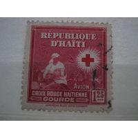Марка - Гаити - война, красный крест