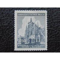 Рейх. Богемия и Моравия.  1944г. собор в Праге.