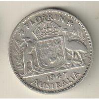 Австралия 2 шиллинга (флорин) 1947
