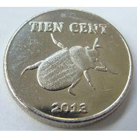 О.Бонайре 10 центов 2013 г