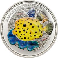 "Палау 5 долларов 2014г. ""Коробочка"". Монета в капсуле; сертификат. СЕРЕБРО 25гр."
