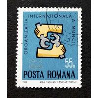 Румыния 1969 г. 50-летие Международной организации труда. События, полная серия из 1 марки #0079-Л1P5