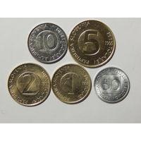 Словения 0,5;1,2,5,10 талеров 1993-2002г