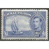 Кайманы. Король Георг VI. Парусник. 1938г. Mi#106.