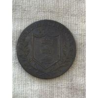 Великобритания Йоркшир 1/2 пенни 1791 г. Токен
