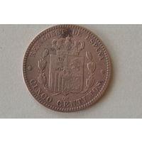 Испания 5 сантим 1879