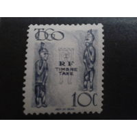 Того 1947 Идолы, доплатная марка колония Франции