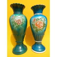 2 фаянсовые вазы МФЗ, целые