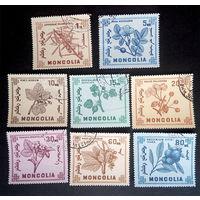 Монголия 1968 г. Ягоды. Флора, полная серия из 8 марок #0075-Ф1