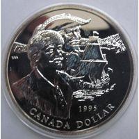 Канада, доллар, 1995, серебро