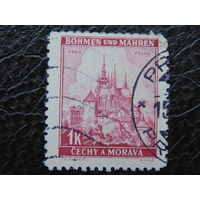 Рейх. Богемия и Моравия. 1939г.  Прага.