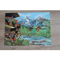 Картина Альпийский пейзаж 40х30 см акрил