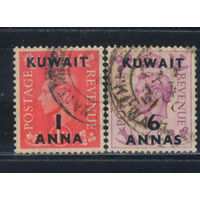 GB Протекторат Кувейт 1948 GVI Надп Стандарт #65,70