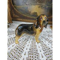 Красивая статуэтка охота Коллекционная собака фарфор