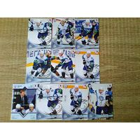 19 карточек разной вариации 6 сезона КХЛ одним лотом.