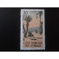 Сомали, колония Франции 1947 пустыня Данакиль