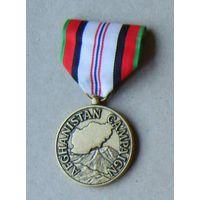 Медаль за участие в  войне в Афганистане.США.