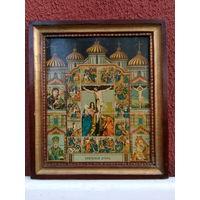 Икона репродукция антикварная православная