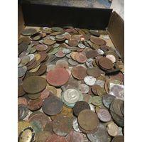 Лот монет ри и СССР около 400 _500шт.