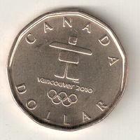 Канада 1 доллар 2010 Олимпиада Ванкувер 2010