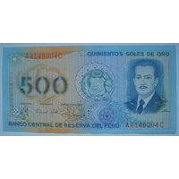 Перу 500 солей 1982 г.